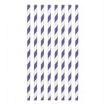 Purple Paper Straws (24)